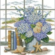 Dimensions 35166 Hydrangeas and Shells